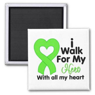 Lyme Disease I Walk For My Hero Fridge Magnet