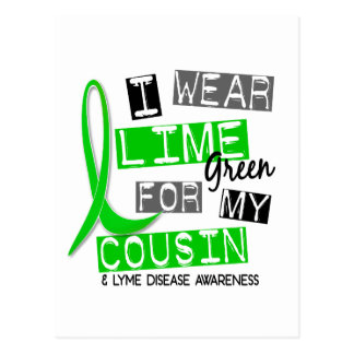 Lyme Disease I Wear Lime Green For My Cousin 37 Postcard