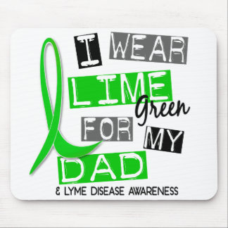 Lyme Disease I Wear Lime Green For My Dad 37 Mouse Pad