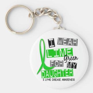 Lyme Disease I Wear Lime Green For My Daughter 37 Basic Round Button Key Ring