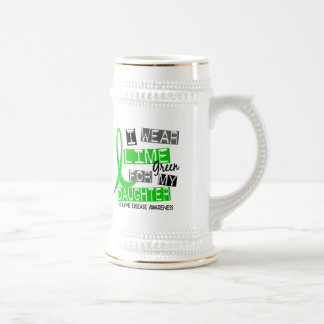 Lyme Disease I Wear Lime Green For My Daughter 37 Beer Stein