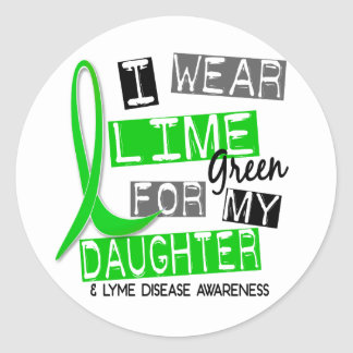 Lyme Disease I Wear Lime Green For My Daughter 37 Sticker