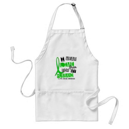 Lyme Disease I Wear Lime Green For My Husband 37 Apron