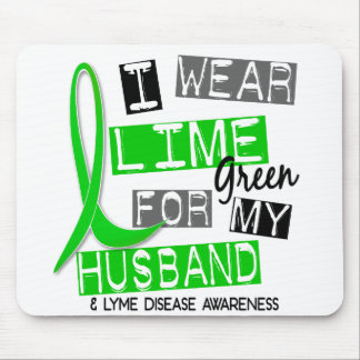 Lyme Disease I Wear Lime Green For My Husband 37 Mouse Pad
