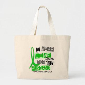 Lyme Disease I Wear Lime Green For My Husband 37 Jumbo Tote Bag