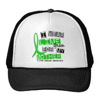Lyme Disease I Wear Lime Green For My Mother 37 Mesh Hats