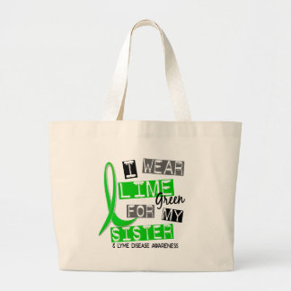 Lyme Disease I Wear Lime Green For My Sister 37 Jumbo Tote Bag
