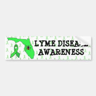 Lyme Disease in Florida Awareness Bumper Sticker