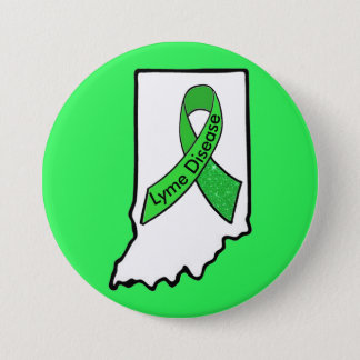 Lyme Disease in Indiana Awareness Ribbon Button