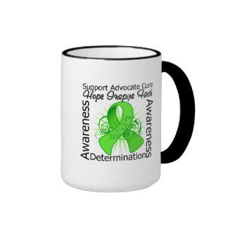 Lyme Disease Inspirations Spiral Ribbon Coffee Mugs