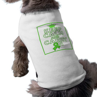 Lyme Disease Keep Calm and Carry ON Doggie Shirt