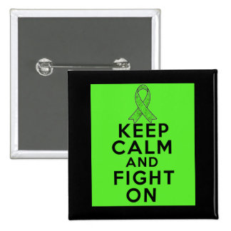 Lyme Disease Keep Calm and Fight On Buttons