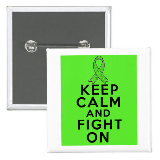 Lyme Disease Keep Calm and Fight On Button