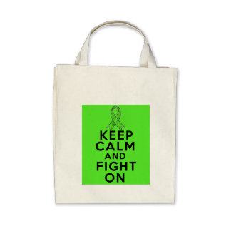 Lyme Disease Keep Calm and Fight On Canvas Bag