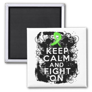 Lyme Disease Keep Calm and Fight On Square Magnet