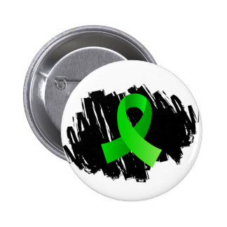 Lyme Disease Lime Green Ribbon With Scribble 6 Cm Round Badge