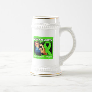 Lyme Disease Mission We Can Do It 18 Oz Beer Stein