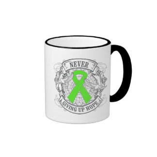 Lyme Disease Never Giving Up Hope Ringer Coffee Mug