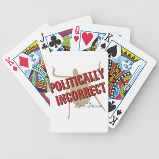 Lyme Disease - Politically Incorrect Bicycle Card Deck