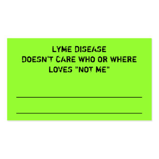 LYME DISEASE RANDOM ACT OF AWARENESS Double-Sided STANDARD BUSINESS CARDS (Pack OF 100)