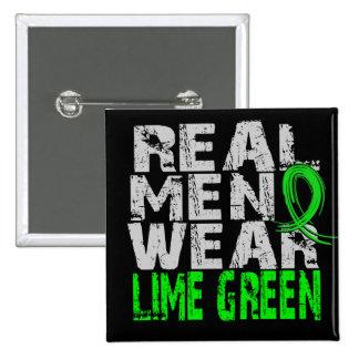 Lyme Disease Real Men Wear Lime Green 15 Cm Square Badge