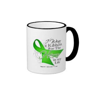 Lyme Disease Ribbon Hero in My Life Ringer Mug