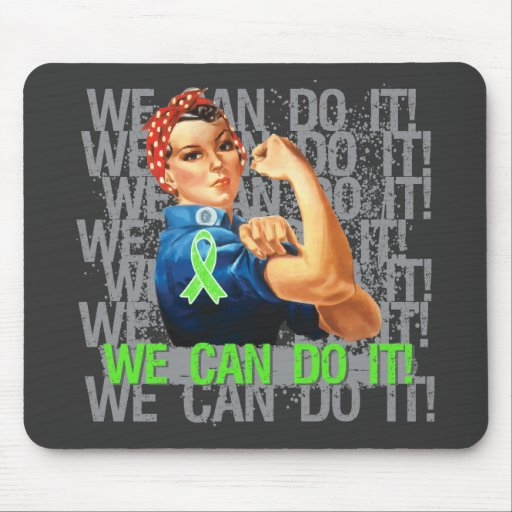 Lyme Disease Rosie WE CAN DO IT Mousepad
