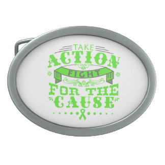 Lyme Disease Take Action Fight For The Cause Oval Belt Buckle