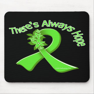 Lyme Disease There's Always Hope Floral Mousepad