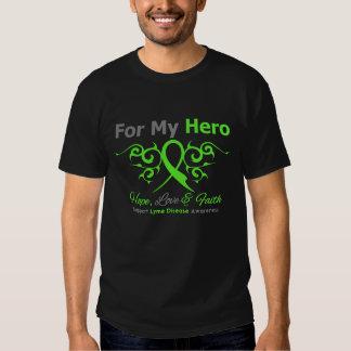 Lyme Disease Tribal Ribbon Hero Shirt