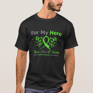 Lyme Disease Tribal Ribbon Hero T-Shirt