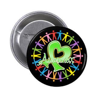 Lyme Disease Unite in Awareness 6 Cm Round Badge