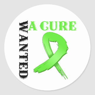 Lyme Disease Wanted A Cure Round Sticker