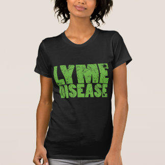 "Lyme Green ""Lyme Disease"" design with ticks T-Shirt"