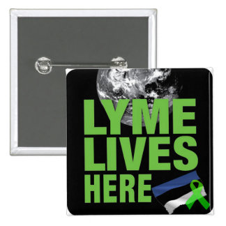 Lyme Lives Here in Estonia Flag Awareness Button