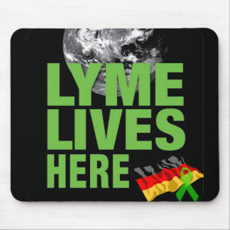 Lyme Lives Here Mouse Pad Germany