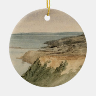 Lyme Regis, Dorset, c.1797 (w/c over pencil on tex Christmas Ornament