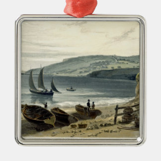 Lyme Regis, from Charmouth, Dorset, from 'A Voyage Christmas Ornament