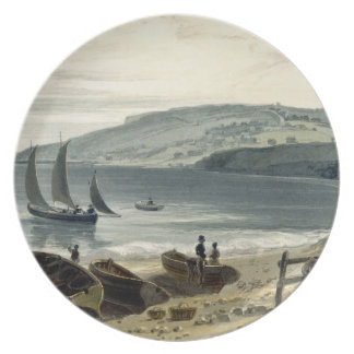 Lyme Regis, from Charmouth, Dorset, from 'A Voyage Plate