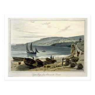 Lyme Regis, from Charmouth, Dorset, from 'A Voyage Postcard