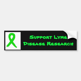 Lyme's disease research and awareness bumper sticker