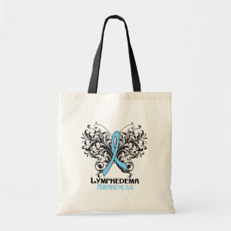 Lymphedema Awareness Butterfly Budget Tote Bag