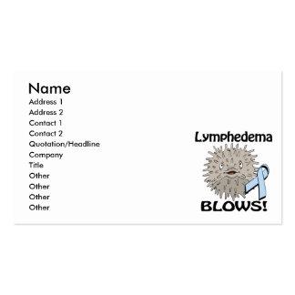 Lymphedema Blows Awareness Design Business Card Templates