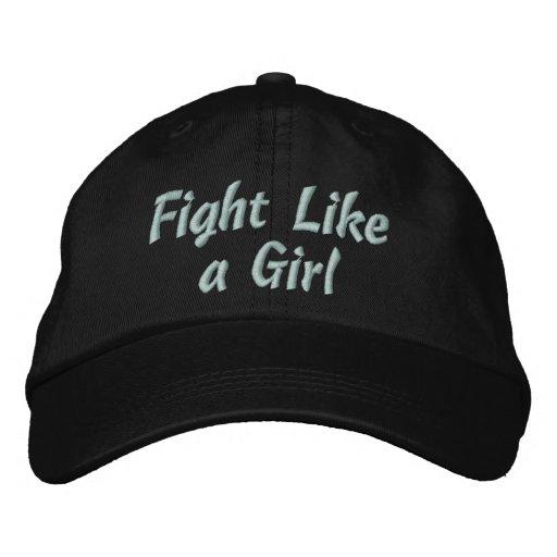 Lymphedema Fight Like a Girl Baseball Cap