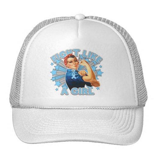 Lymphedema Vintage Rosie Fight Like A Girl Trucker Hat