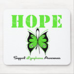 Lymphoma Awareness Hope Butterfly Mouse Pad