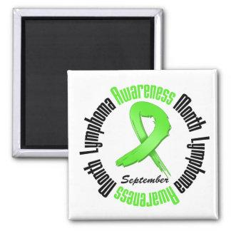 Lymphoma  Awareness Month Circular Fridge Magnets