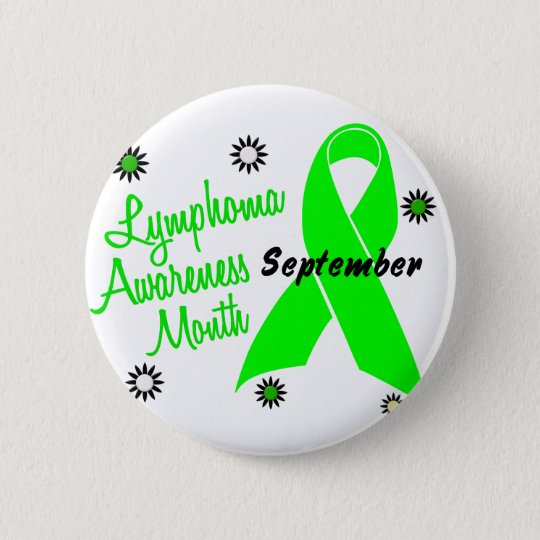 Lymphoma Awareness Month Flowers 1 6 Cm Round Badge