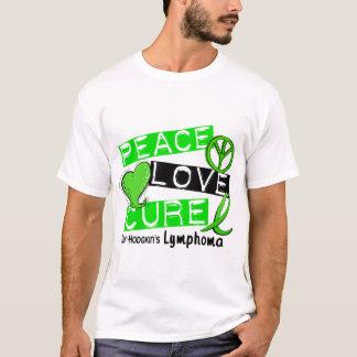 Lymphoma Awareness Non-Hodgkin's PEACE LOVE CURE T-Shirt