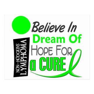 Lymphoma Awareness NonHodgkins BELIEVE DREAM HOPE Postcard